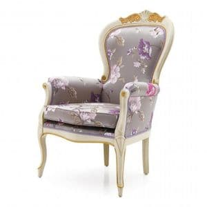 Lavorato Bespoke Upholstered Carved French Armchair MS9218P Custom Made-To-Order