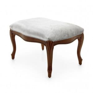 Lavorato Bespoke Upholstered Carved French Ottoman Footstool MS0218O Custom Made-To-Order