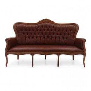 Lavorato Carved French Three Seater Sofa MS0218E Made-To-Order