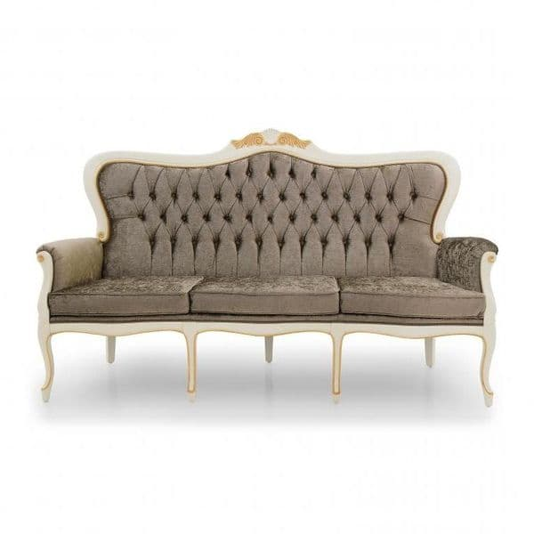 Lavorato Carved French Three Seater Sofa MS9218E Made-To-Order