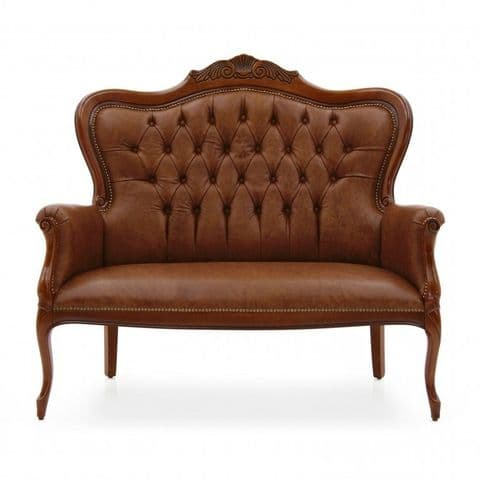 Lavorato Carved French Two Seater Sofa MS0218D  Made-To-Order