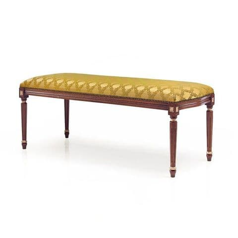 Louis-Auguste Bespoke Upholstered Bench Seat MS0252Q Custom Made-To-Order