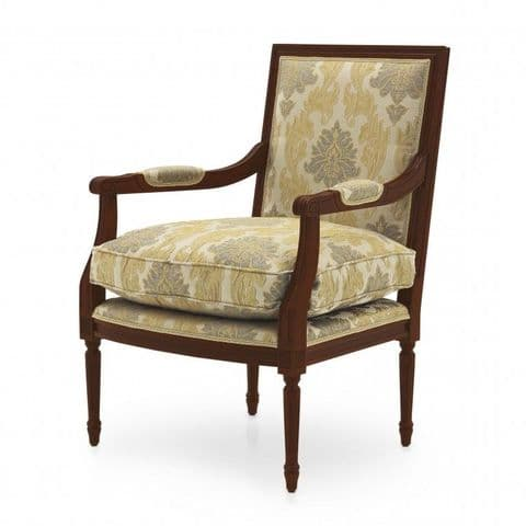 Louis-Auguste Bespoke Upholstered Square Back Armchair MS9275P Custom Made-To-Order