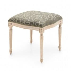 Louis-Auguste Bespoke Upholstered Vanity Dressing Stool MS0252O Custom Made-To-Order