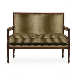Louis-Auguste Square Back Two Seater Sofa MS9275D Made-To-Order