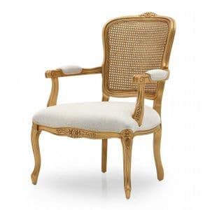 Louis XVI Bespoke Upholstered Cane Back Armchair MS3265P Custom Made-To-Order