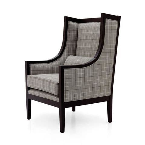 Moderno Bespoke Upholstered Modern Wing Chair MS9158P Custom Made-To-Order