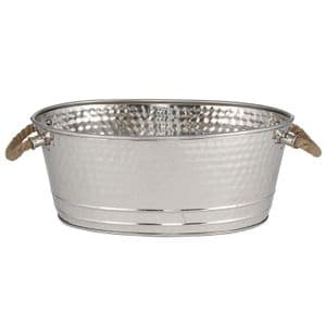 Oval Wine Cooler Ice Bucket With Rope Handles Bottle Holder MP70-196