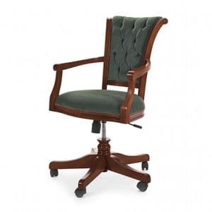 Piedmont Bespoke Upholstered Office Desk Chair MS0699A Custom Made-To-Order