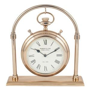 Pocket Watch Style Antique Brass Carriage Desk Clock MP75-157-AB