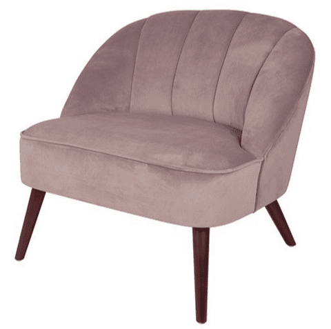 Riviera Blush Pink Velvet Upholstered Chair MP15-257BP