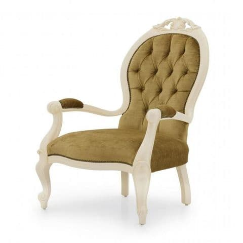Salottino Bespoke Upholstered Balloon Back Armchair MS0910P Custom Made-To-Order