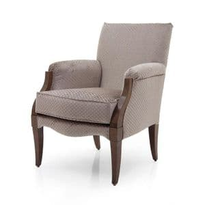 Scatola Bespoke Upholstered Contemporary Armchair MS9446P Custom Made-To-Order