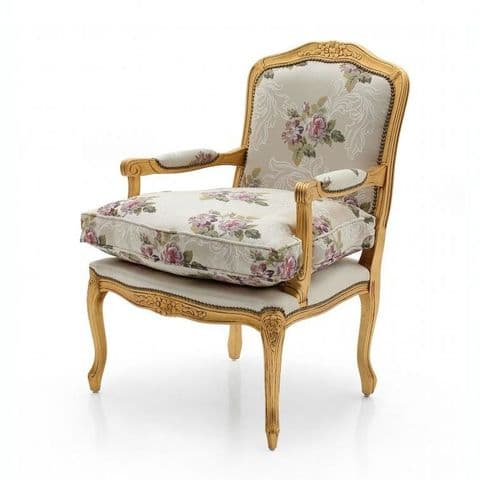 Shayk Bespoke Upholstered French Armchair MS9261P Custom Made-To-Order