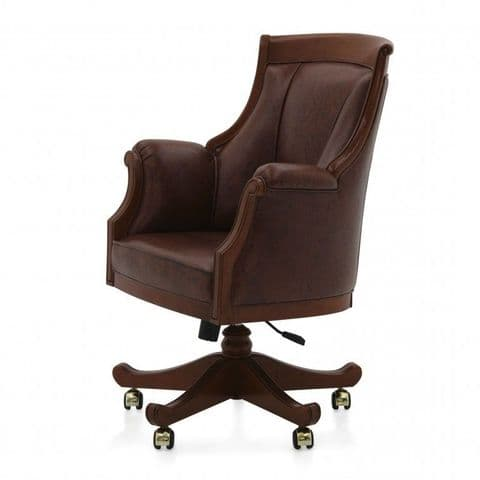 Signore Luxury Italian Desk Chair Bespoke Upholstered MS9593P Custom Made-To-Order