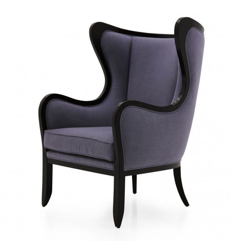 Sinuoso Bespoke Upholstered Modern Wingback Barrel Chair MS9496P Custom Made-To-Order wing chairs & armchairs Millmax Interiors Furniture Sale UK