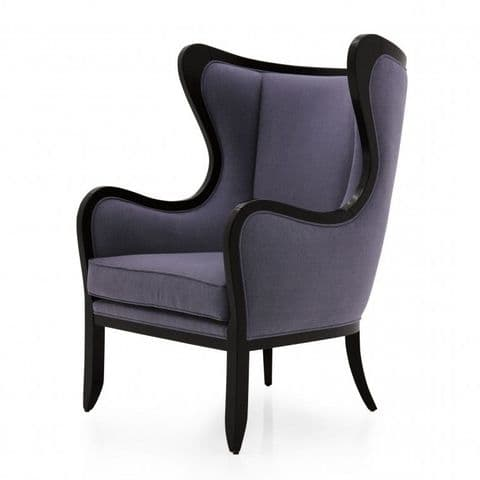 Sinuoso Bespoke Upholstered Modern Wingback Barrel Chair MS9496P Custom Made-To-Order