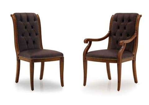 Toro Tufted Back Bespoke Upholstered Dining Chairs MS0521 Custom Made-To-Order