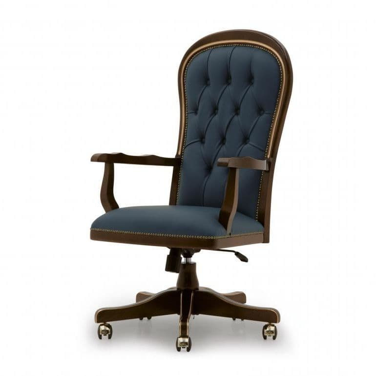 Ufficio Bespoke Upholstered Executive Desk Chair Ms0316p Custom Made To Order Wood Desk Chairs For Desks