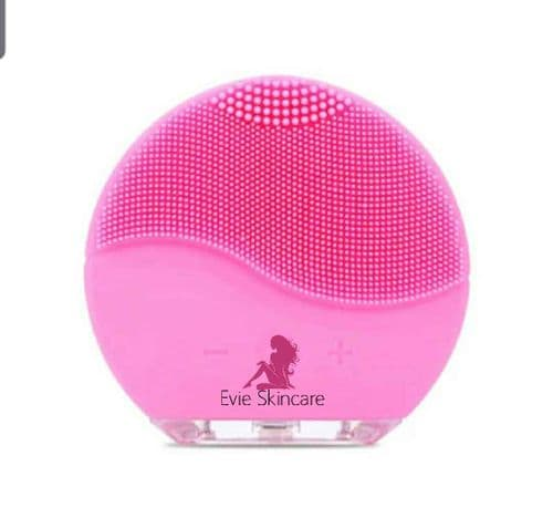 Chargeable Vibrating Facial Cleansing Brush pink