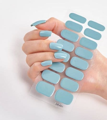 Nail Strips Baby Blue