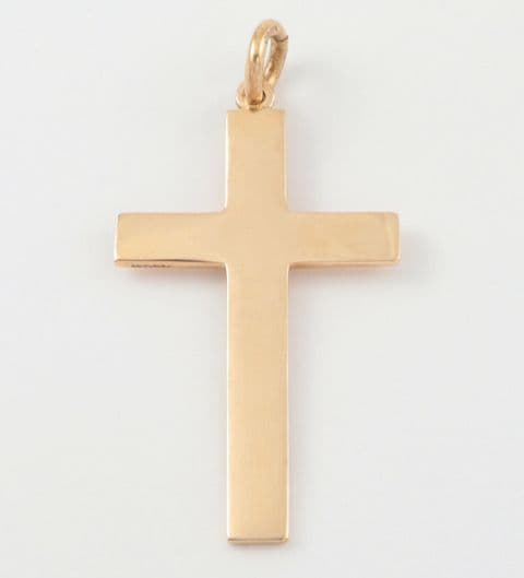 Antique Solid 9Ct Yellow Gold Cross Pendant