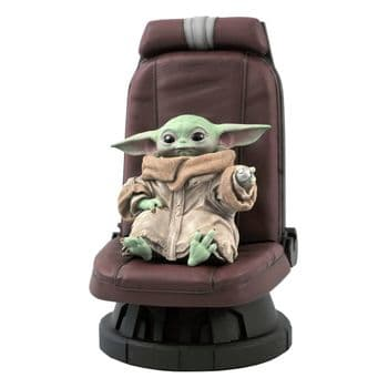 Gentle Giant Star Wars The Mandalorian Premier Collection 1/2 The Child in Chair 30 cm - Pre-Order