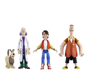 NECA Back to the Future Toony Classics Figure Set Marty, Doc and Biff Set of 3 - Instock