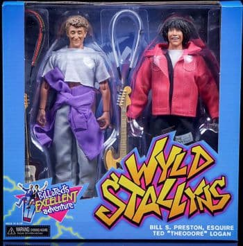 NECA Bill and Ted's Excellent Adventure Wyld Stallyns Clothed Action Figure Box Set