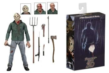 "NECA Friday 13th Part 3 3D Ultimate Jason 7"" Scale Action Figure"
