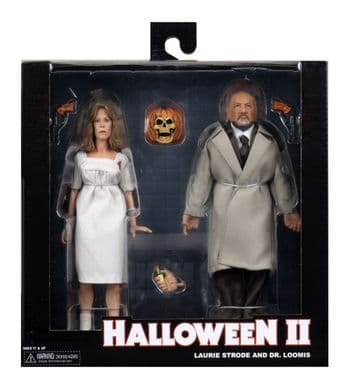 NECA Halloween 2 Laurie Strode and Dr Loomis Action Figure 2 Pack - Instock
