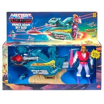 SALE Mattel Masters of the Universe Origins Prince Adam with Sky Sled - INSTOCK