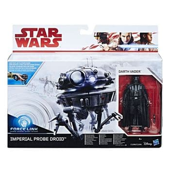 Star Wars Force Link Darth Vader and Imperial Probe Droid Figure Set