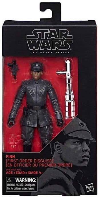 "Star Wars The Black Series Finn (First Order Disguise)  6"" Action Figure"