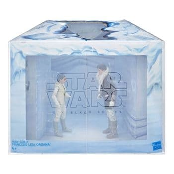 """Star Wars The Black Series SDCC 2018 Exclusive Han and Leia Hoth 6"""" Figure Diorama"""