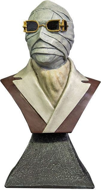"""Trick or Treat Studios Universal Studios The Invisible Man 1/6 Scale 6"""" Mini Bust"""