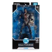 "DC MULTIVERSE - JUSTICE LEAGUE MOVIE - CYBORG 7"" MCFARLANE ACTION FIGURE"