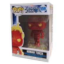 POP! FANTASTIC FOUR 559: HUMAN TORCH BOBBLE HEAD VINYL FIGURE
