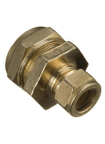 Compression Coupling Straight 22mm x 15mm