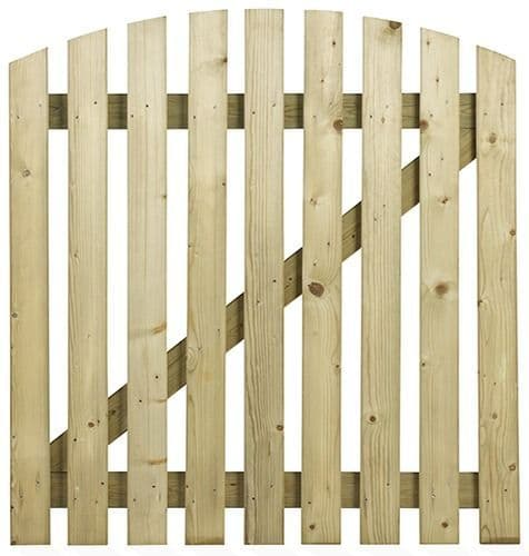 Curved Wicket Style Gate