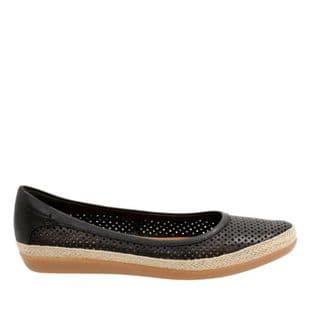 Clarks Danelly Adira Black Leather Womens Shoes
