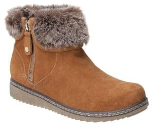 Hush Puppies Penny Tan Suede Womens Boots