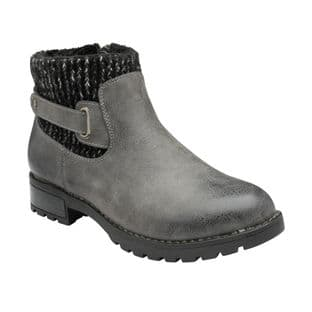 Lotus Womens Fearne Grey Ankle Boots
