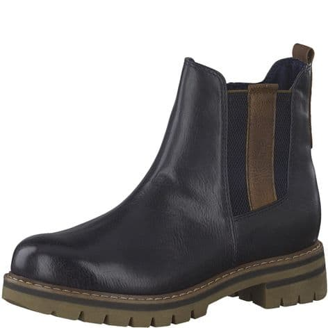 Marco Tozzi 2-2-26425-25 820 Navy Antic Comb Womens Boots