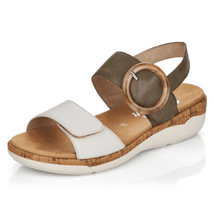 Remonte R6853-54 Ladies Green Combination Coloured Buckle Sandals