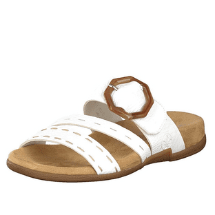 Rieker Womens V0092-80 White Mule Sandals