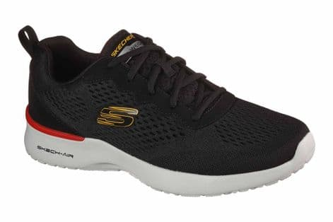Skechers Mens 232291 BBK Black Skech Air Dynamight Tuned Up Trainers