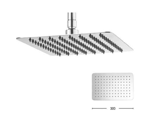 Crosswater Glide 300 mm Fixed shower Head In Polished Chrome - Model FH320SR+