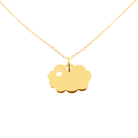 """Collier """"Nuage"""" or"""