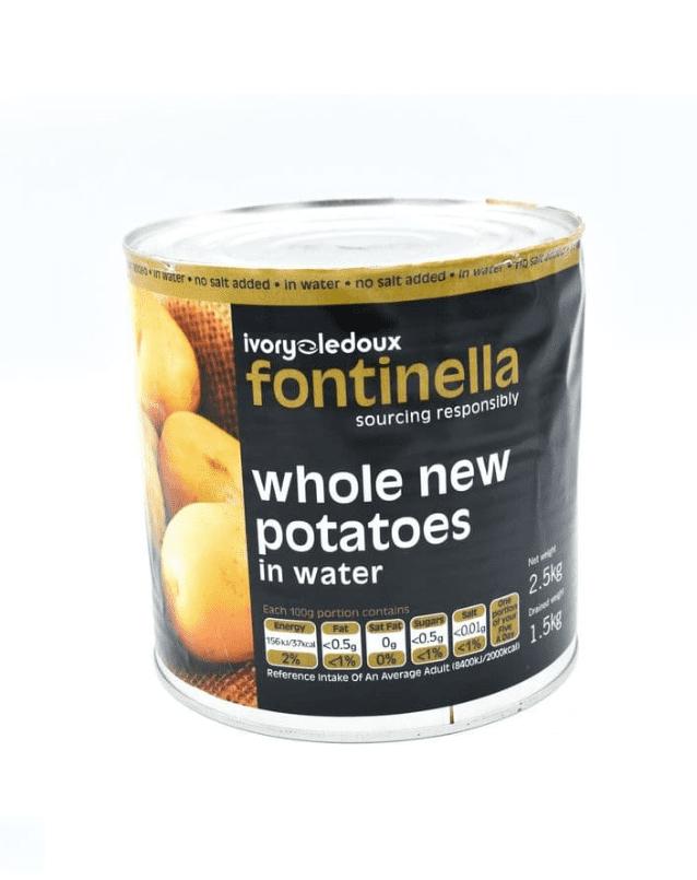 2.5KG Canned Whole New Potatoes- Bulk Food Ration Storage